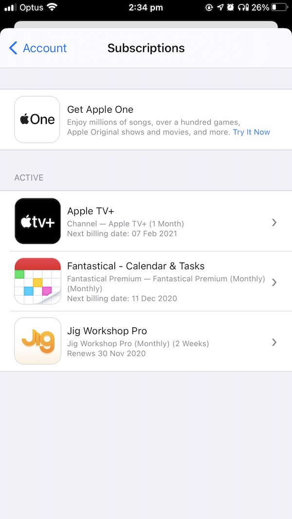 AppStore Subscriptions